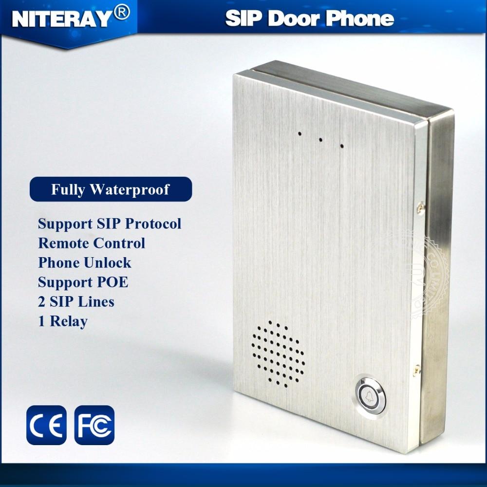 PBX IP Door Phone SIP Intercom Door Phone with doorbell feature & waterproof design
