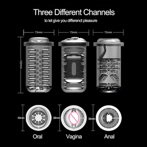 Image 5 - 10 Frequency Vibration Oral Sex Machine 5 speed Automatic Piston Telescopic Vagina Anal Suck Male Masturbator Sex Toys for Men