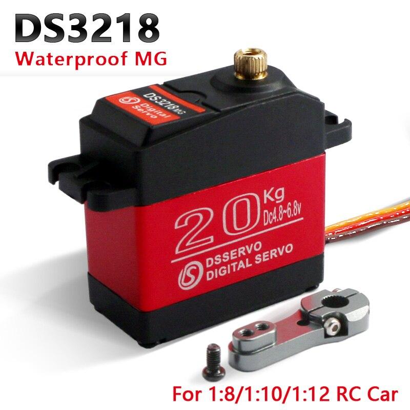1X étanche rc servo DS3218 mise à jour et PRO haute vitesse en métal engrenage numérique servo baja servo 20 KG/. 09 S pour 1/8 1/10 échelle RC voitures