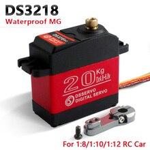 Servo digital de metal de alta velocidad para coches de control remoto, servo resistente al agua DS3218, actualización y PRO, 20KG/S 0,09, escala 1/8, 1 unidad