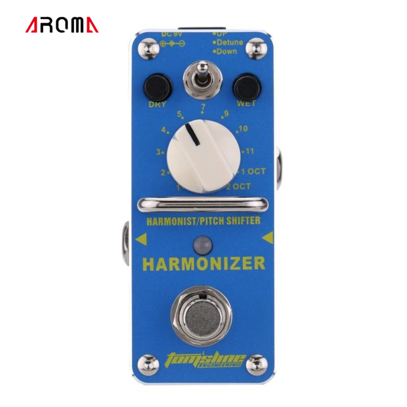 AROMA AHAR-3 Harmonizer Harmonist/Pitch Shifter Electric Guitar Effect Pedal Mini Single Effect with True Bypass aroma adr 3 dumbler amp simulator guitar effect pedal mini single pedals with true bypass aluminium alloy guitar accessories