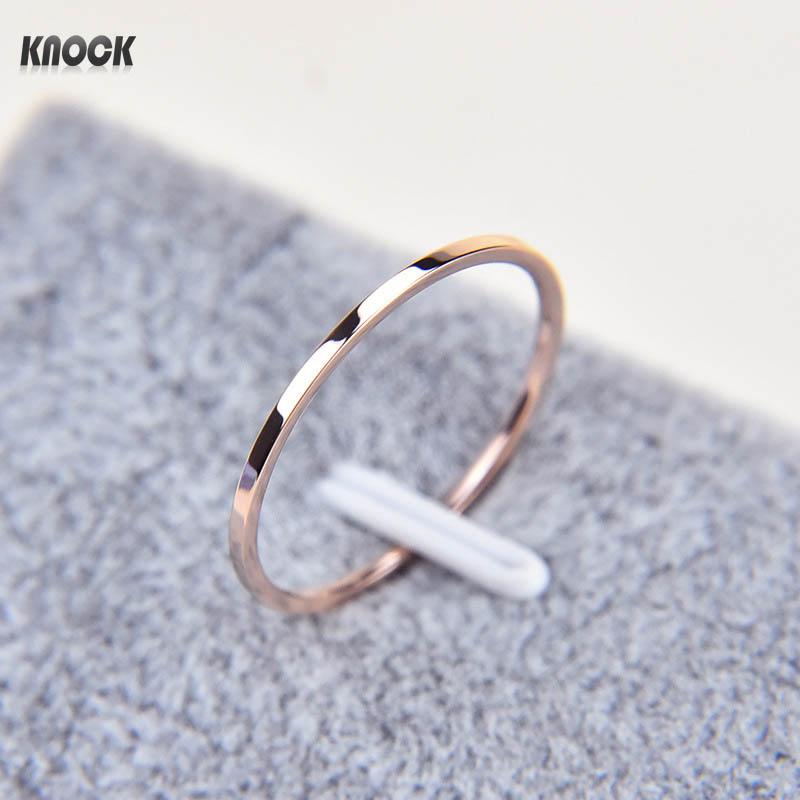 Knock ( 1.2 MM ) Promotion Titanium Steel Rose Gold Color Ans