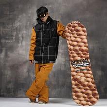 Winter Women Men Ski Suit Waterproof Windproof Jacket+Pants Warm Ski Jacket Thicken Clothes Pants Set Snowboard Jacket