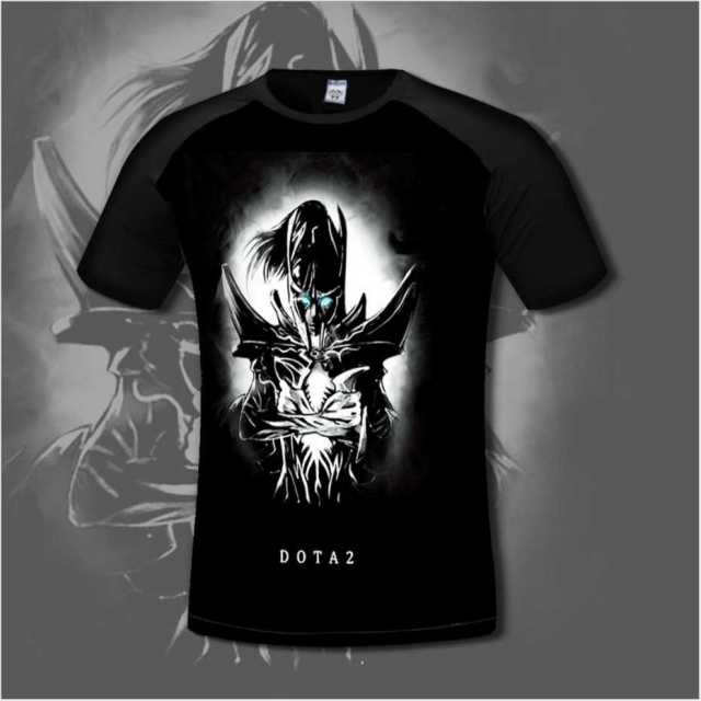 Chinoiserie Dota 2 Men's T shirt Comfortable lycra Cotton Anime T-shirts Casual gamer Clothing flexib short sleeve fashion shirt