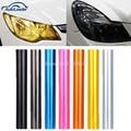 30 cm x 120 cm cores Auto carro Tint farol Taillight luz de nevoeiro de fumaça Film folha de vinil adesivo 12 polegada x 48 polegada