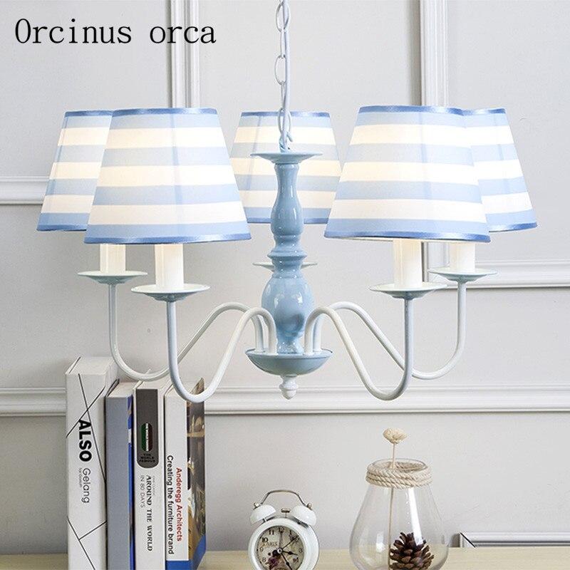 Средиземноморская синяя люстра гостиная спальня американский стиль пасторальный стиль детская люстра бесплатная доставка
