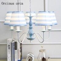 Mediterranean Blue chandelier living room bedroom American style pastoral style children Chandelier free shipping