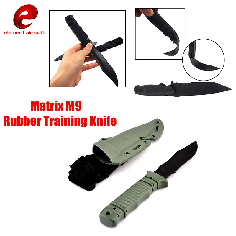US Army <font><b>M9</b></font> Tactical Training Dagger Cosplay Plastics <font><b>Knife</b></font> War Movie Prop Wargame Hunting Practice Decoration Rubber <font><b>Knife</b></font> CY339 image