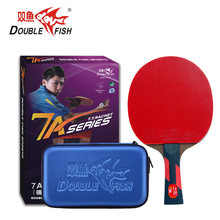 Double fish Premium 7AC 7star table tennis finished rackets paddle 5 Ply wenge wood racquet fast attack loop with PU case original dhs power g9 pg9 table tennis blade fast attack with loop table tennis rackets racquet sports indoor sports