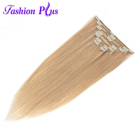Clip In Human Hair Extensions Machine Made Remy Clip Ins Extension Hair Straight Hair7pcs/Set 120g Human Hair Clip In Extensions
