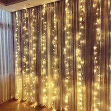 SVELTA 4X2M 256 Leds Curtain Lights Garland Christmas LED Fairy Lights Decoration For New Year Xmas Party Wedding Holiday svelta led curtain lights 8m 192 leds garland fairy christmas lights gerlyanda decorative for new year holiday party wedding