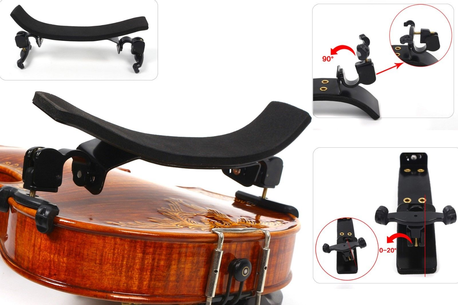 Yinfente High Quality Violin 3/4-4/4 Violin Bon Style Adjustable Shoulder Rest Pad Support Parts Accessories Fittings new professional violin use 4 4 full size adjustable maple wood violin shoulder rest support for violin parts