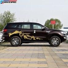 Внедорожные полосы Авто тела Сторона Приключения горы графическая Виниловая наклейка для Ford Everes SUV автомобильные аксессуары