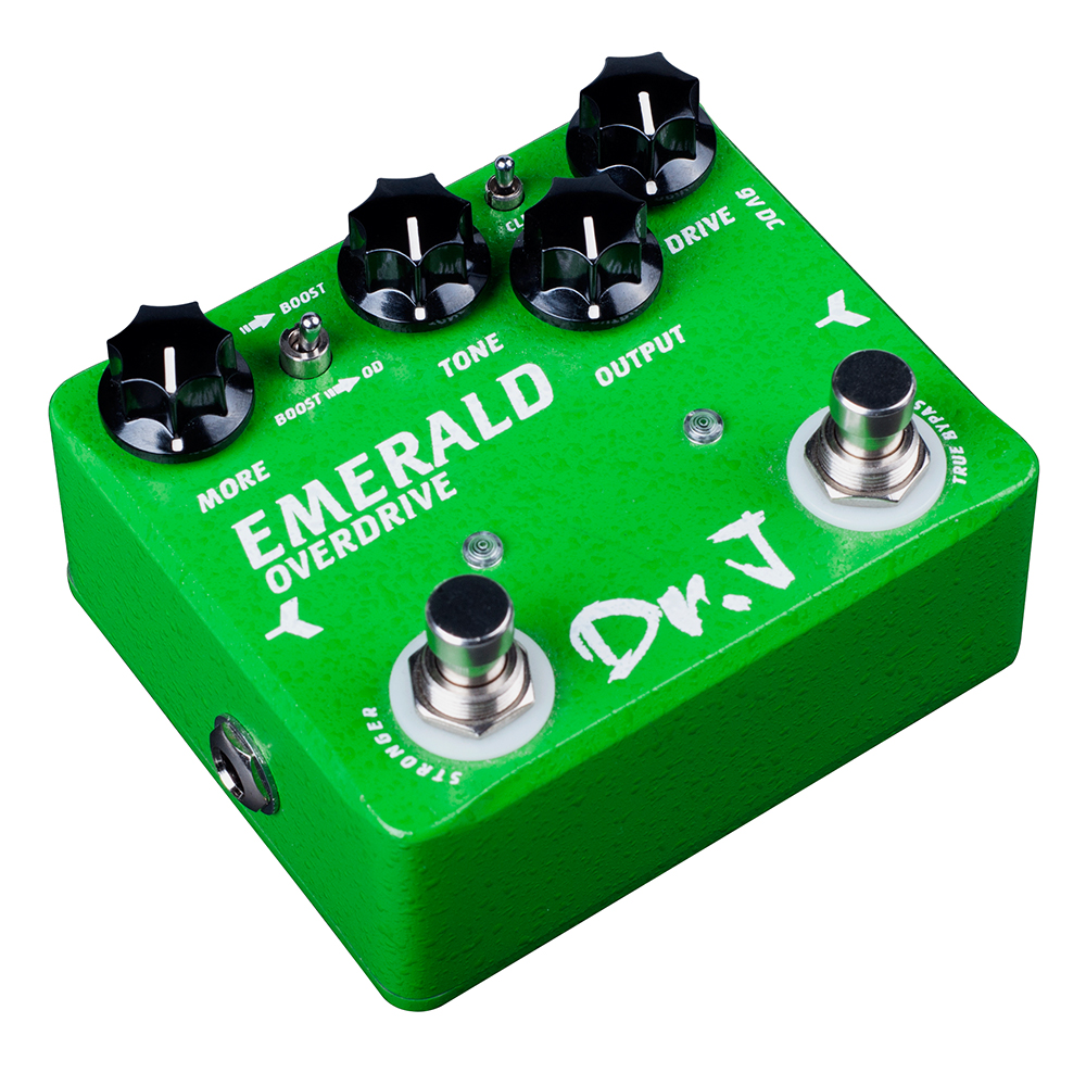 Dr. J EMERALD Analog Overdrive Electric Guitar Effect Pedal CLIP Switch True Bypass D60 overdrive guitar effect pedal true bypass with 1590b green case electric guitar stompbox pedals od1 kits