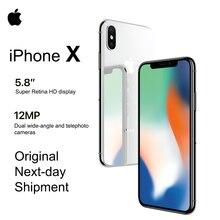 """חדש לגמרי Apple iPhone X 5.8 """"OLED סופר רשתית תצוגת 4G LTE FaceID 12MP מצלמה Bluetooth IOS 11 IP67 עמיד למים"""