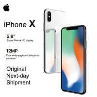 Nuevo Apple iPhone X 5,8 OLED Super pantalla Retina de 4G LTE FaceID 12MP Cámara Bluetooth IOS 11 IP67 impermeable