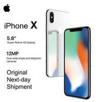Tout nouveau Apple iPhone X 5.8 OLED Super rétine affichage 4G LTE FaceID 12MP caméra Bluetooth IOS 11 IP67 étanche