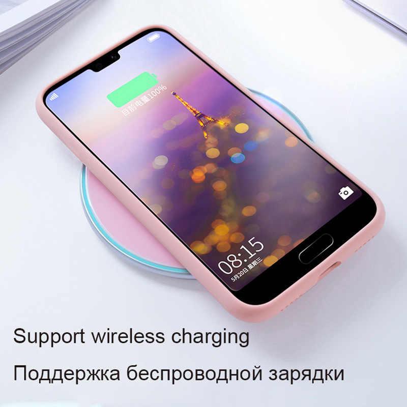 Cao cấp Chất Lỏng Silicon Mềm Mại Dành Cho Huawei P20 Lite Ốp Lưng P30 Pro P10 Plus Giao Phối 20 Honor 9 10 V10 v20 Lưng Coque Chống Sốc Etui