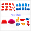 4sets Playdough Tools Soft Polymer Fimo Modeling Clay 3D Space Sand Accessories DIY Set for Magic Sand Kids Toys