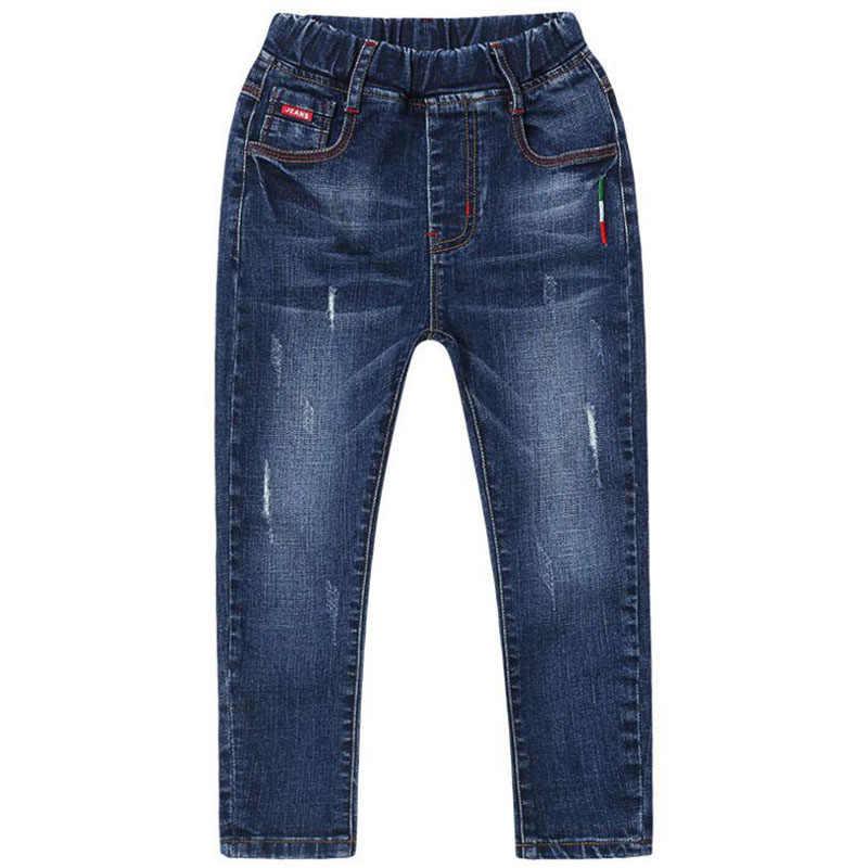 Bahar erkek kot çocuk pantolon moda çocuk giyim resmi delik kot pantolon çocuk pantolonu erkek mavi pantolon 2020