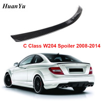 W204 2 Door/4 door AMG Style Rear Spoiler for Mercedes benz C Class 2008 2014 Carbon Fiber Trunk Back Bumper Lip Ducktail