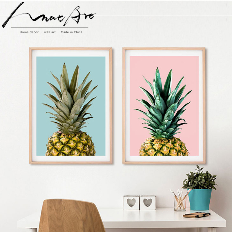 pineapple posters and prints new canvas wall art living room decoration modern Home Decoration kitchen farmhouse Fruit painting image