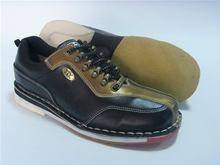 100% quality hot sale gold with black professional bowling shoes