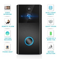 Intercom Wifi Video Door Bell Wireless Wifi Doorbell with 720P HD Camera Intelligent Door Phone