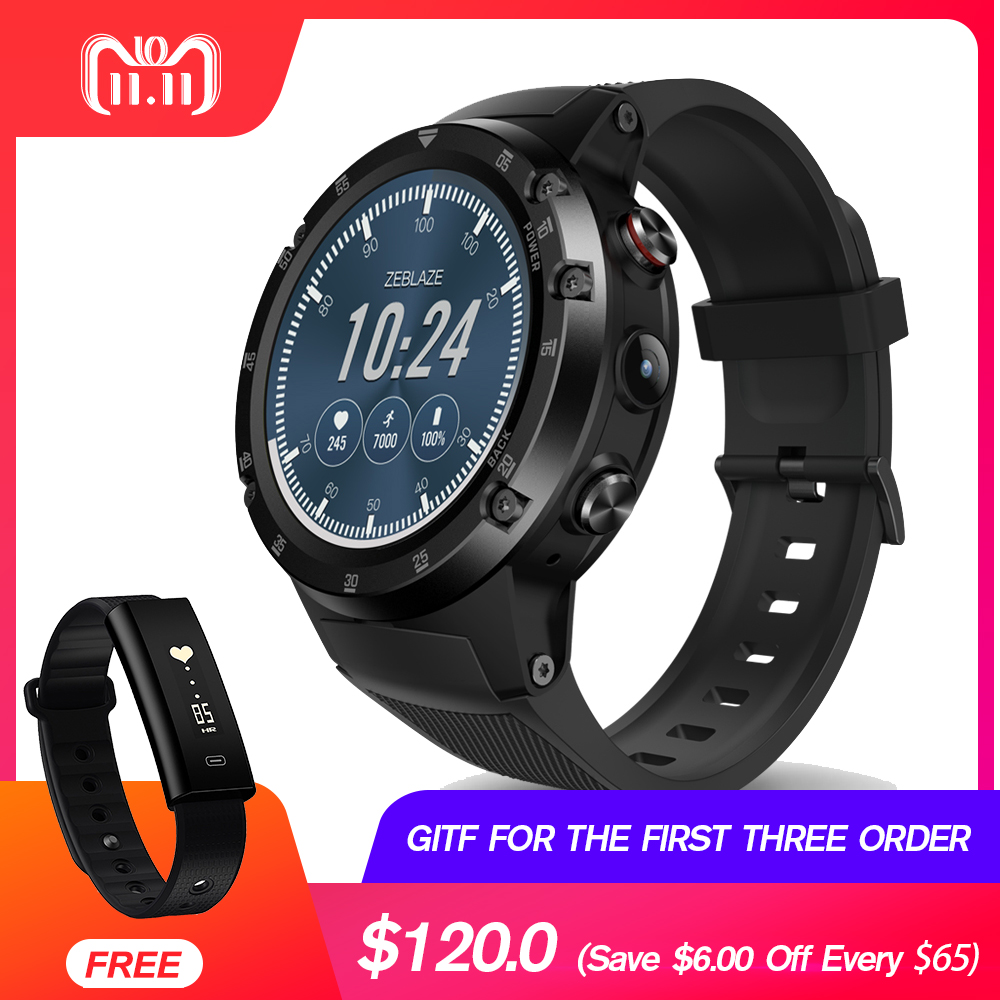 Zeblaze THOR 4 Plus Flagship 4G LTE SmartWatch Phone Android 7.1 MTK6739 QuadCore 1GB+16GB 5.0MP 580mAh GPS Smat Watch Men Women zeblaze thor smartwatch phone 4 4g lte gps android 7 0 mtk6737 quad core 1gb ram 16gb rom 5 0mp camera 4g 3g 2g watch phone