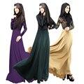 Malyasian Макси Платье дубай кафтан турецкий jilba хиджаба Мусульманской Абая Мода женщин исламская платье Полной платье пакистан одеёды
