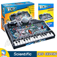 38 Multi Experiments Piano Lab Electrical Science Sets Scientific Kits Brain Physics DIY Model Building Early Education Kid Toys