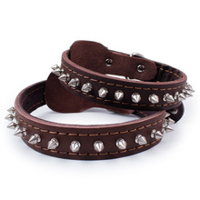 Pet Dog Collars Leather Single row of nails Collar Harnesses Leads  Suitable for Small Medium Large Dogs Supplies product