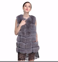 BIG DISCOUNT Genuine Real Fox Fur Vest Women S Full Pelt Gilet Warm Luxury Real Natural