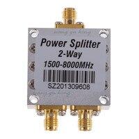 New1500 ~ 8000 Mhz 2 Way Mocy RF Sumator Splitter w/SMA ŻEŃSKIE złącza Wysokiej Częstotliwości 1.5-8 Ghz Zasilania Rozdzielacza Dla 3G 4G DCS 1SZT