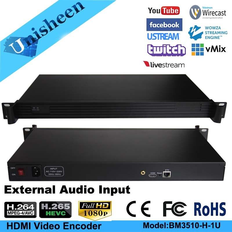 100% Wahr H.265 Hevc Mpeg-4 Avc/h.264 Hd Sdi Video Encoder Hdmi Sender Live Broadcast Encoder H264 Encoder