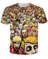 Brand New Мужчины/женщины Лето Топы Тис resident evil зомби труп 3D печати Футболка футболка одежда