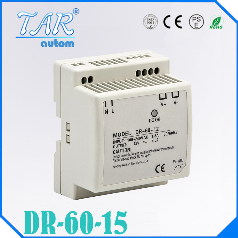 low cost fast delivery DIN RAIL switch power supply1 5v 4a DR-60-15 60w 15v 4a din mounting small size thin size dr shaila v kothiwale and dr mahesh neurgaonkar local drug delivery in periodontics