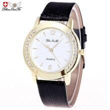 Бриллианты обеих сторон Золото Relogio цифровой циферблат 20 мм черный кожаный ремешок Для мужчин пара Роскошные Кварцевые часы Красный наручные часы для мужчин S C435