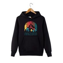Retro state of Arizona mountain Hoodie souvenir gift Sweatershirt For Men Women