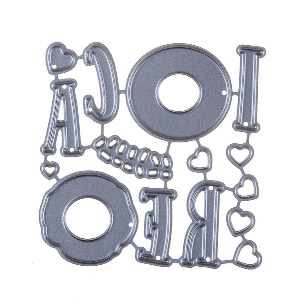 60*60mm scrapbooking DIY Love of care Shape Metal steel cutting die letter Shape Book photo album art card Dies Cut