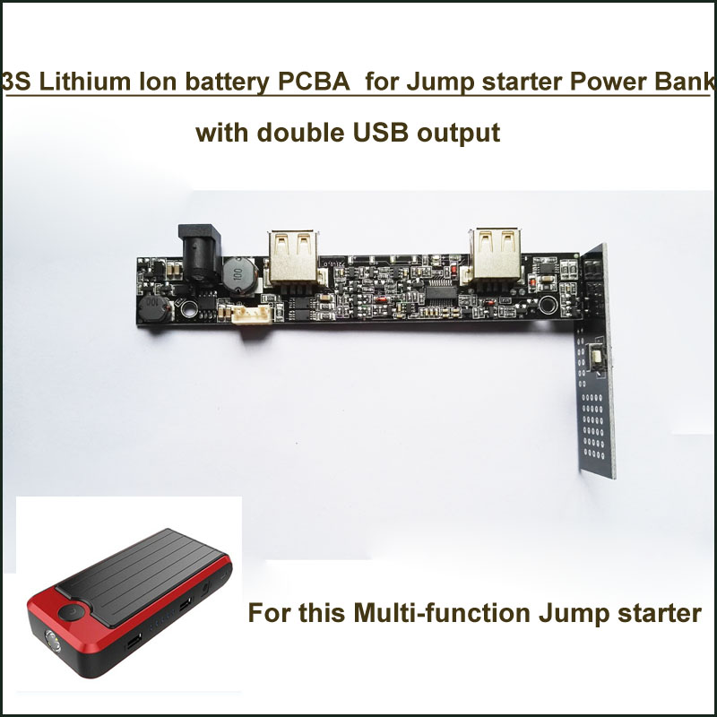 Lithium Jump Starter And Portable Power Bank >> PCB board for 3S 12.6V Lithium polymer multi function portable power bank jump starter PCBA with ...