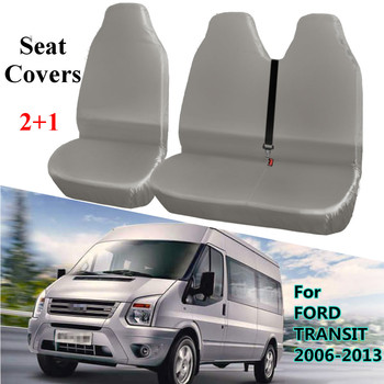2+1 Gray Universal Waterproof Van Automobiles Seat Covers Protector for FORD TRANSIT 2006-2013