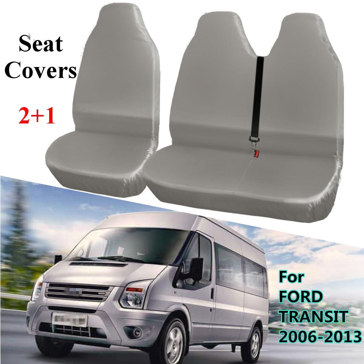 2 + 1 gris Universel Étanche Van Automobiles Siège Couvre Protecteur pour FORD TRANSIT 2006-2013