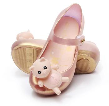 2019 Cute Cartoon Jelly Shoes Girls Sandals Infants Pig Peggy Children Outdoor Girl Sandal Baby Girls Beach Anti-skid Sandal