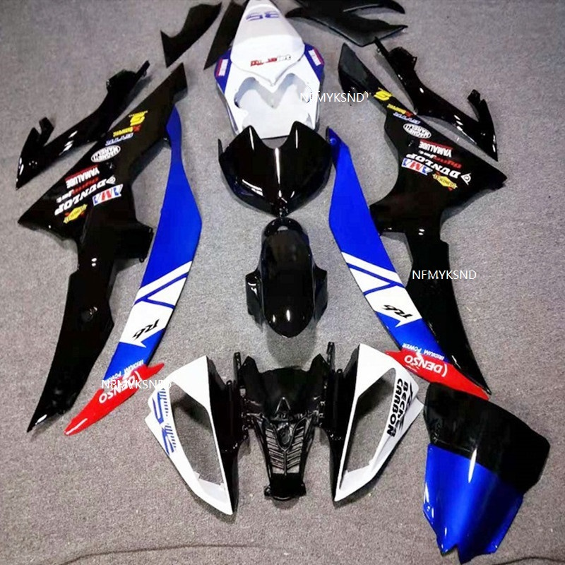 High <font><b>Fairing</b></font> kit for YAMAHA YZFR6 <font><b>2008</b></font> 2009 2010 2011 Injection mold 2012 2013 2014 <font><b>YZF</b></font> <font><b>R6</b></font> ABS black blue <font><b>Fairings</b></font> <font><b>set</b></font> image