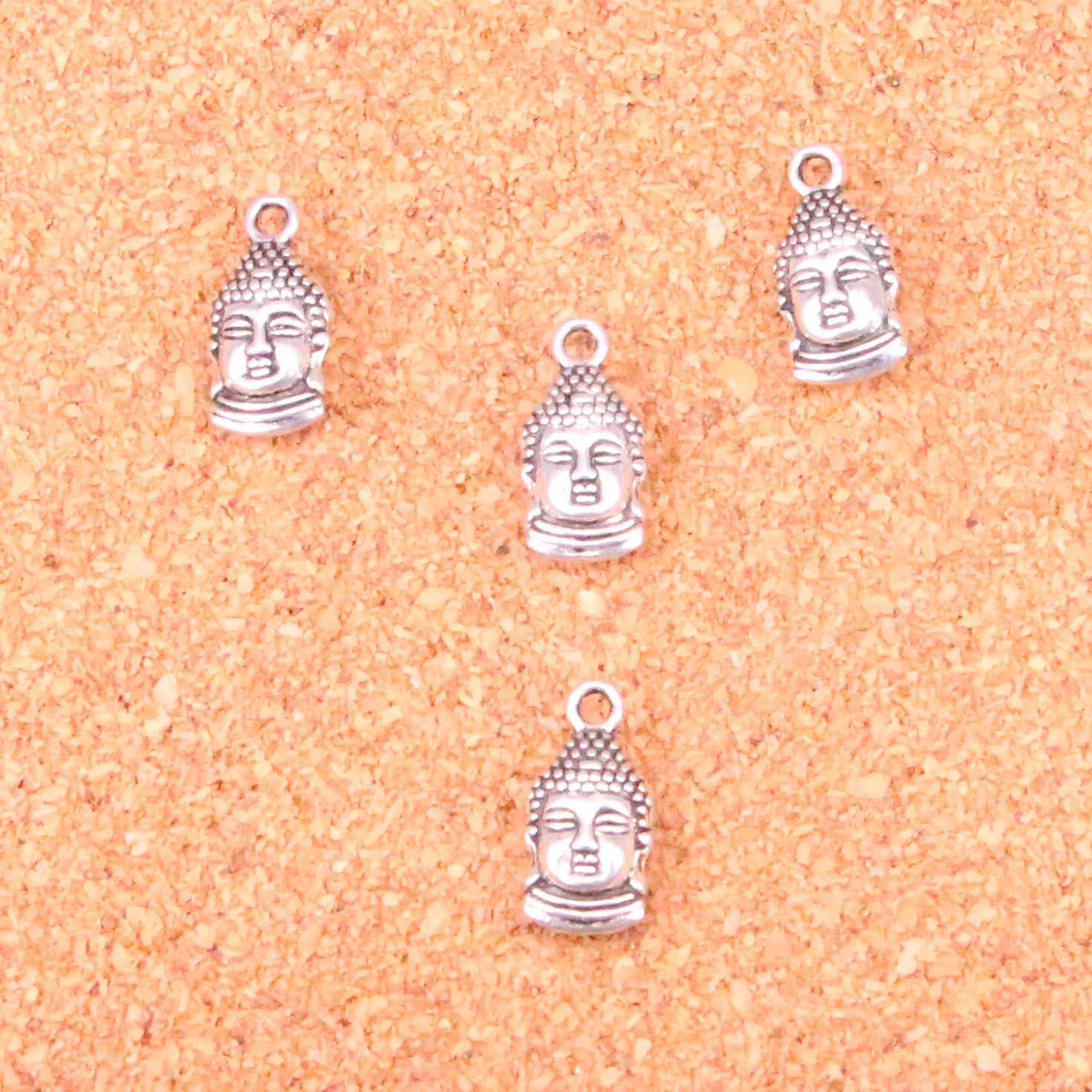 76 pcs Charms buddha head,Antique Making pendant fit,Vintage Tibetan Silver,jewelry DIY bracelet necklace 16*8mm