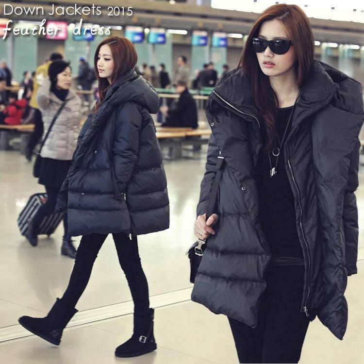 2018 Горячее предложение черный темно синие пуховики повседневное стиль большой размеры зимние пальто для женщин