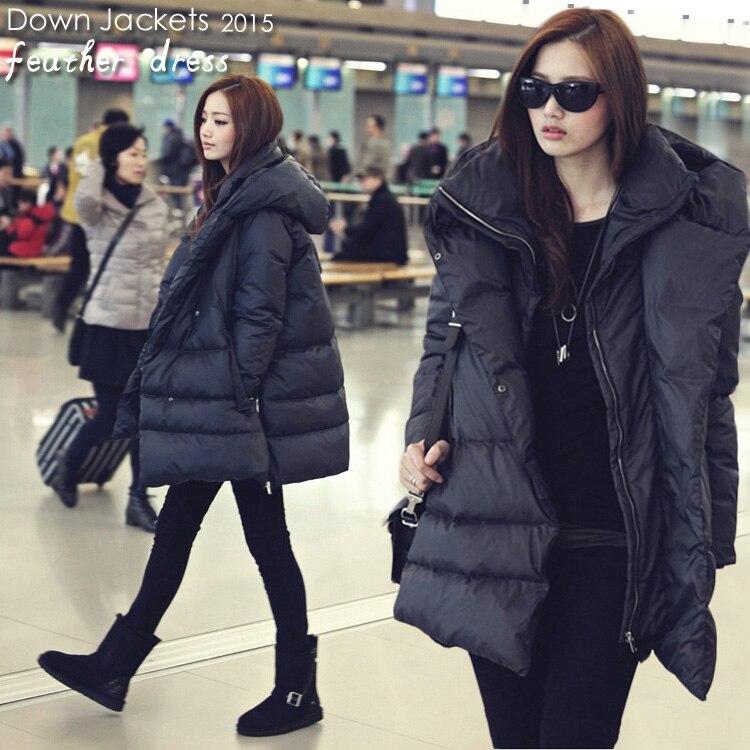2018 hot new black navy blu giù giacche stile casual grande formato cappotti invernali per le donne