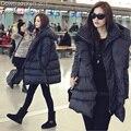New black straight-tipo jaqueta estilo casual tamanho grande casaco quente