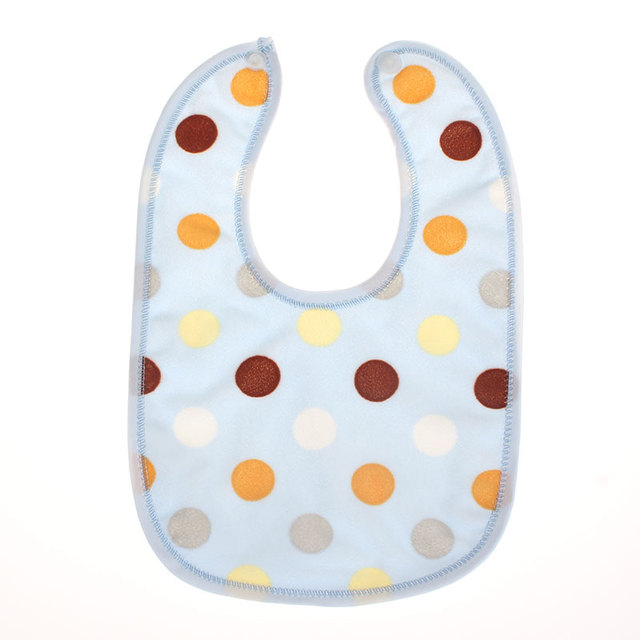 1 piece Baby Dot Kids Bibs Saliva Burp Boy Girls Newborn Feeding accessories Infant Baberos Waterproof Toddlers Stuff Cloth